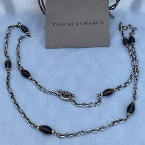 David Yurman Smokey topaz chain 925 750 18k 34 1/2